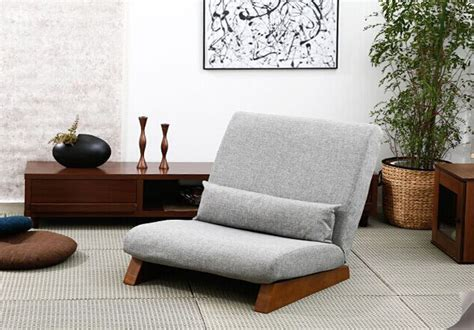 Japanese Living Room Furniture Floor Folding Single Seat Sofa Bed Modern Fabric Japanese Living Room Furniture Armless Lounge
