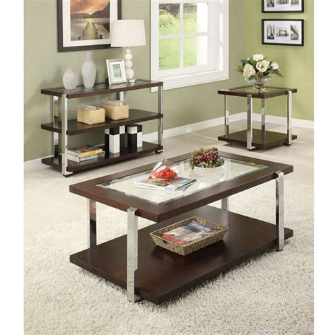 coffee table espresso finish dreamfurniture com jae espresso finish coffee end table set