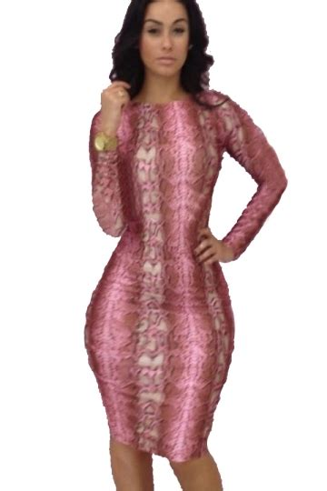 Dress Impor 1132 Tosca pink trendy womens bodycon sleeve backless midi club