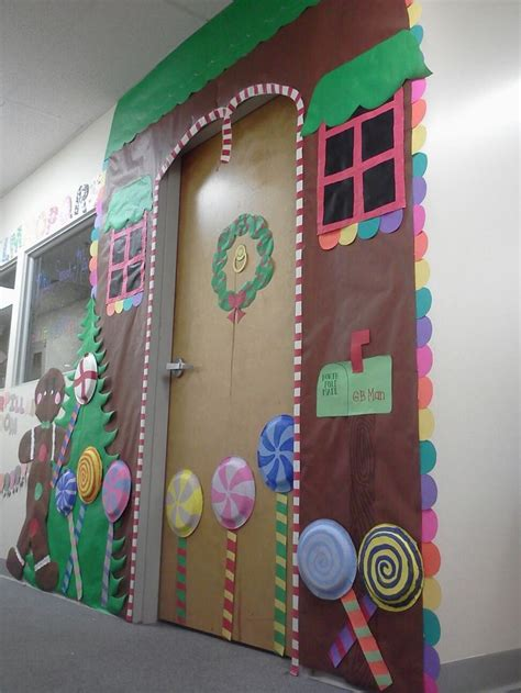 Gingerbread House Door Decorations by Pin By Kerri Hamilton On B Boards Doors