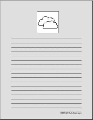 cloud writing paper writing paper clouds abcteach