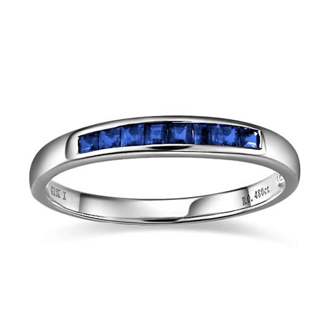 10k white gold wedding band sapphire wedding band on 10k white gold jewelocean