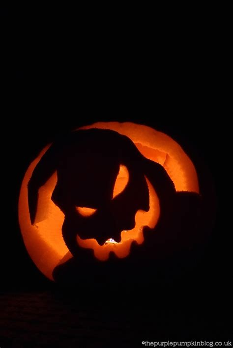 oogie boogie pumpkin template nightmare before pumpkin carving