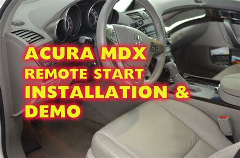 security system 2004 acura mdx engine control acura mdx remote start alarm installation with idatalink and dei python remote start by autotoys