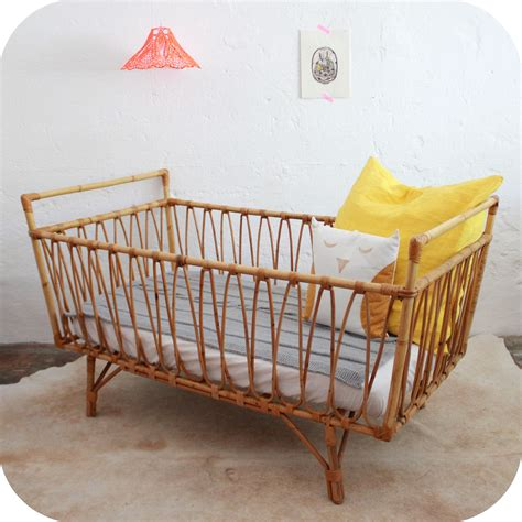 Wicker Baby Cribs Vintage Rattan Baby Crib So Things I