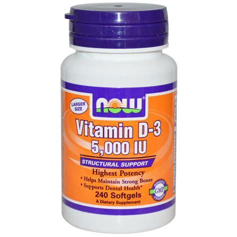Now Foods Vitamin D 3 5 000 Iu 240 Softgels Iherb Com
