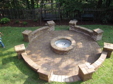 simple pit simple backyard paver pit the home decor ideas