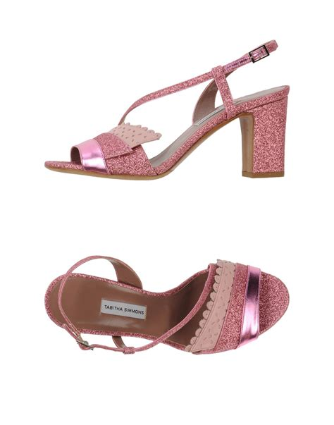 simmons sandals simmons sandals in pink lyst