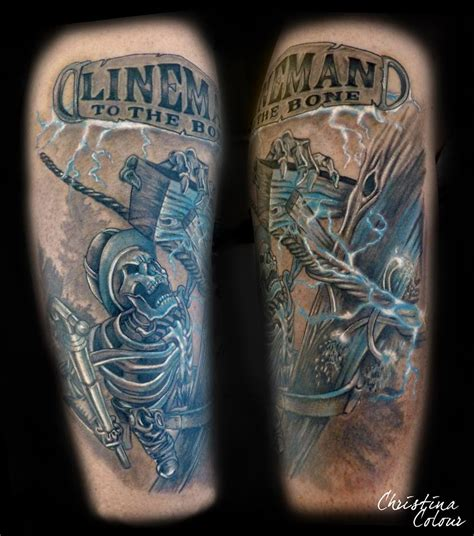 lineman tattoo andersen certified artist