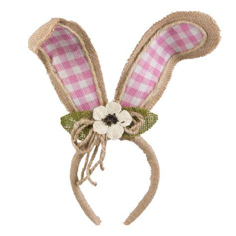 Bunny Hairband by Burlap Bunny Ear Headband Pink Gingham 9729877a