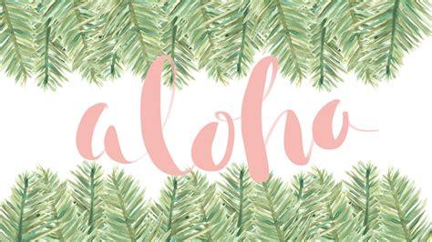 january freebie aloha wallpaper  watercolor palm leafs jetty home