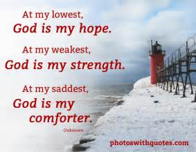 My Comforter My All In All Picture Quote At My Lowest God Is My Hope