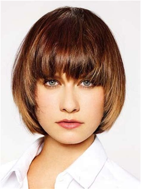 Hairstyle Wigs With Bangs by Feminine Tapered Hairstyle With Bangs Wig
