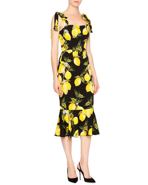 Dres Emon dolce gabbana sleeveless lemon flounce hem dress in