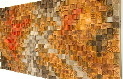 large rustic art wood wall sculpture abstract painting