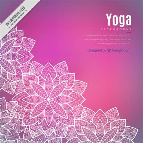 imagenes de fondo yoga fondo floral rosado de la yoga descargar vectores premium