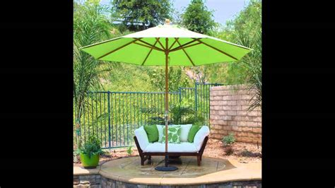 small patio table with umbrella