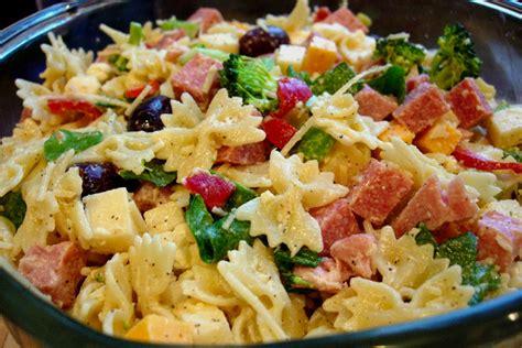 delicious pasta salad with avocado dressing maya kitchenette ham cheese sweet pepper salad jar recipe dishmaps