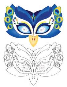 printable peacock mask coolest free printables animaux