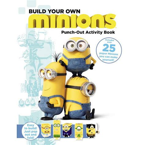 Souvenir Activity Book Tema Minions 1 minions build your own minion punch out activity book
