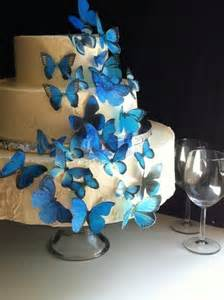 the original edible butterflies assorted blue set of 30