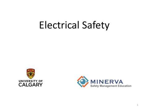 Electrical Safety 1 electrical safety by safety management education