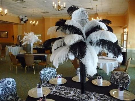 black and white ostrich feather centerpieces wedding centerpieces with big ostrich feathers ostrich feathers centerpieces wedding