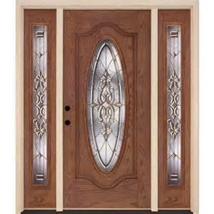 Home Depot Doors For Sale by Feather River Doors Silverdale Brass Oval Stained