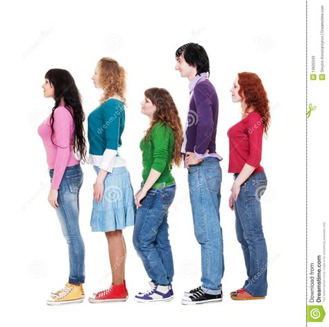 Queue The Photos by And In Queue Stock Image Image Of