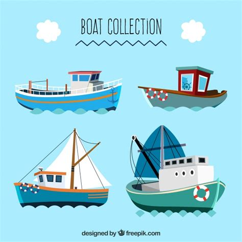 great flats boats great collection of flat boats vector free download