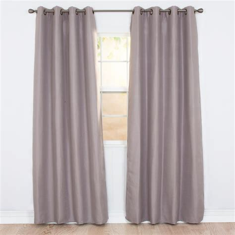 polyester blackout curtains lavish home blackout linen look silver polyester blackout