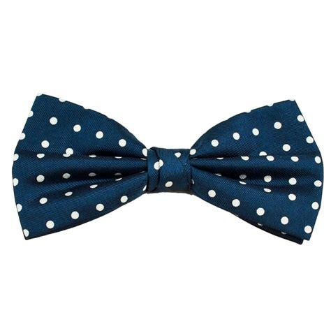 Polka Dot Bow Tie royal blue white polka dot silk bow tie from ties