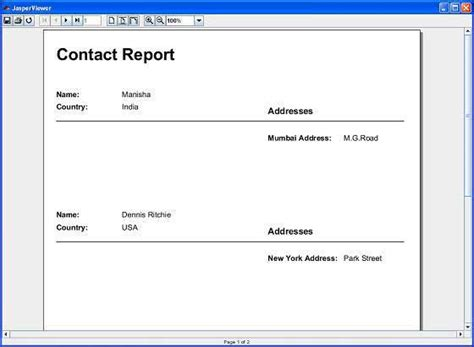 Jasper Report Template Design Create Subreports