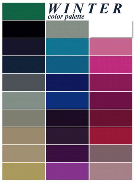 colors of winter best 25 winter color palettes ideas on winter