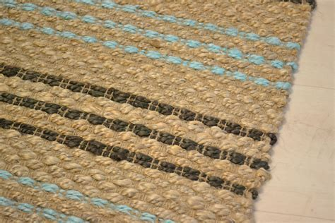 jute with cotton duck egg blue weave rugs rugsite
