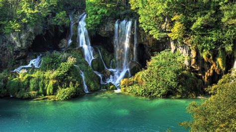 desktop themes nature waterfall thailand wallpaper waterfall river jungle nature
