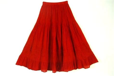comfortable skirts mexican red skirt comfortable elegant summer by
