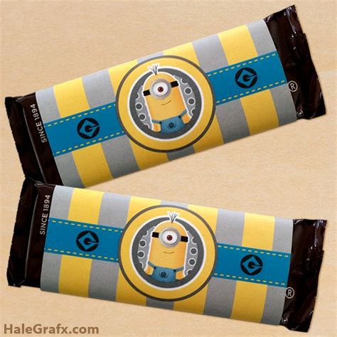 printable minion wrapping paper free printable minion candy bar wrappers minions