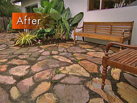 how to create a mulched flagstone patio how tos diy