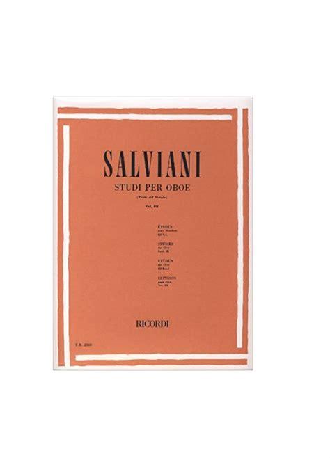 0041823680 studi per oboe vol salviani studi per oboe vol 3 ricordi er2369 timbro musica