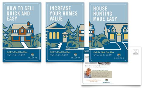 realtor cards template real estate postcard template word publisher