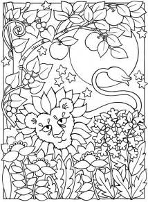 moon coloring pages for adults welcome to dover publications