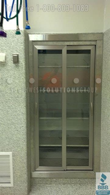 medical supply storage cabinets stainless steel surgery casework operating room