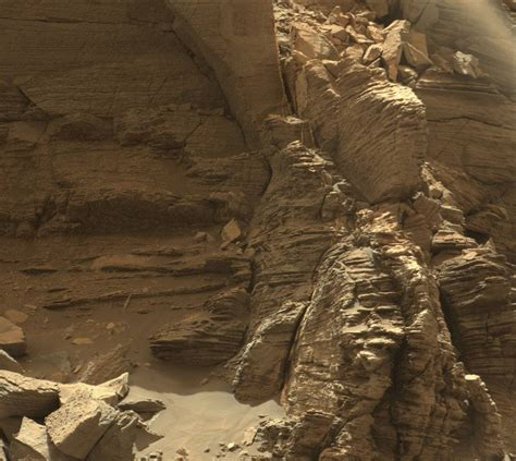 From Mars nasa s curiosity mars rover views spectacular layered rock