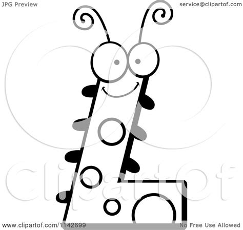 black and white l cartoon clipart of a black and white letter l bug vector