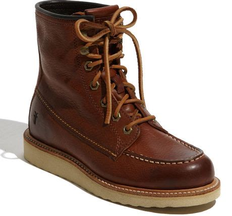 frye dakota wedge boot in brown redwood lyst