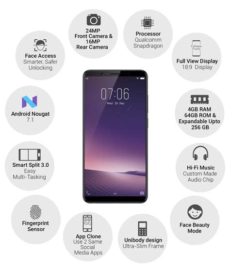 Vivo V7 New 24 Mp Garansi Resmi vivo v7 with 24 mp front 4 gb ram launched in india for rs 21 990 androidpure