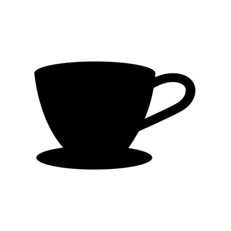 coffee cup silhouette png free coffee cup icon png vector pixsector