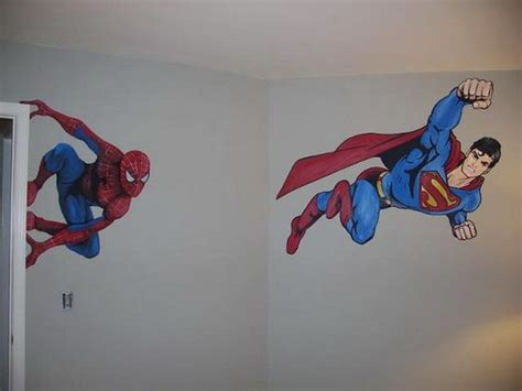 superman wall mural bedroom for boys superman and murals superheroes murals theme products i