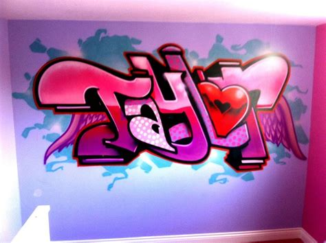 graffiti wallpaper with my name girls graffiti bedroom wall mural http jetztsex ch